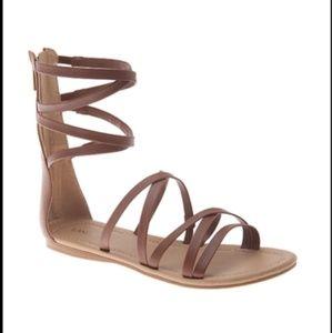 Lane Bryant gladiator zip back sandals size 9W